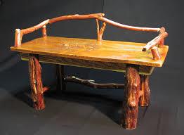 Rustic Log Benches - custom log furniture gallery fine rustic log furniture