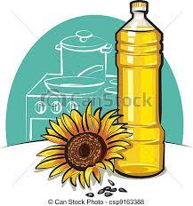 huile cuisine huile cuisine tournesol vecteur search clip illustration