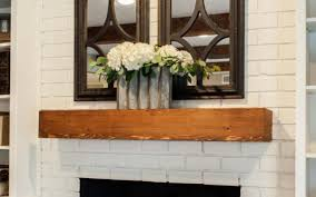 red brick fireplace white stovers
