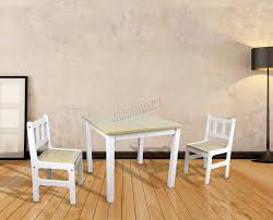 childrens table and 2 chairs foxhunter kids table with 2 chairs set toy study playroom wood kts01