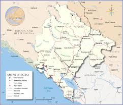 Map Of Southern Europe by Political Map Of Montenegro Nations Online Project