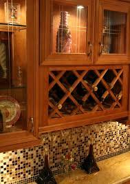 Kitchen Cabinet Insert Home Decor Buffet With Wine Rack Racks Design Ideas Kitchen