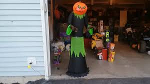 new for 2017 halloween inflatable 5ft pumpkin reaper review youtube