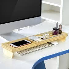 Desk Organizer Shelves Wooden Desk Organizer Storage Box Multifunction Desktop Stand