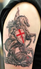 st george and the dragon tattoo www facebook com flamingar u2026 flickr