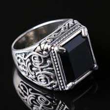 fashion gem rings images Fashion vintage imitated gemstone alloy rings retro silver plated jpg