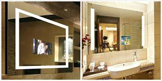 cheerful mirror with tv in it bathroom led mirror electric mirror
