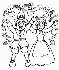 pilgrim boy and thanksgiving coloring pages to print