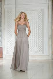 l174002 long v neck belsoie tiffany chiffon bridesmaid dress with