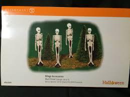 dept 56 halloween retired department 56 halloween village 53079 skull street lamps nib