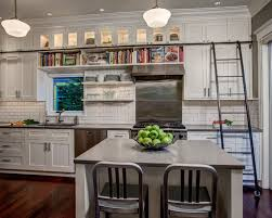 Arts And Crafts Kitchen Design Backsplash Above Cabinets Houzz