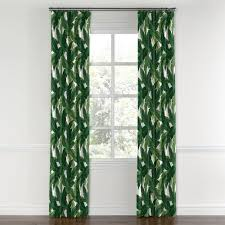 White Curtains With Green Leaves convertible drapery green banana banana leaves and leaves