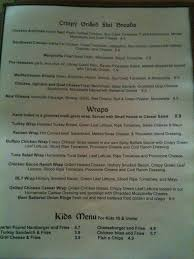 menu at moon cricket grille 14 plant street restaurant prices