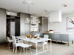 Island In Kitchen Pictures by Gray Kitchen Island Do Like This All White Kitchen With Grey