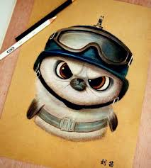 cute and funny drawing artworks by chinese artist oliudio funny