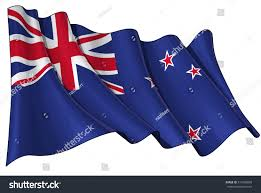 New Zeland Flag Vector Illustration Waving New Zealand Flag Stock Vector 514563850