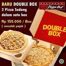 domino pizza ukuran large berapa slice pizza hut promo menu baru double box harga rp 155 000 box
