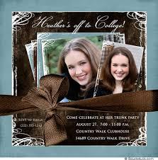 college invitations two photo trunk party invitation college graduate s blue brown