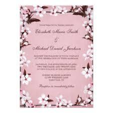 cherry blossom wedding invitations cherry blossom wedding invitations announcements zazzle