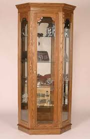 Corner Curio Cabinet Kit Amish Estate Corner Curio Cabinet