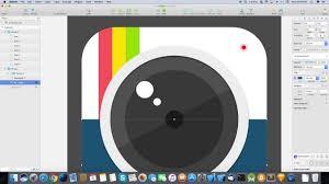 sketch app tutorials z camera app icon designed in sketch youtube