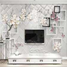 online get cheap 3d wallpaper walls flowers aliexpress com 3d flower wallpaper wall mural living room bedroom wall decor papel decorativo de pared wallpaper for