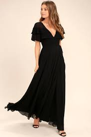 black maxi dress lovely black wrap maxi sleeve wrap dress black maxi