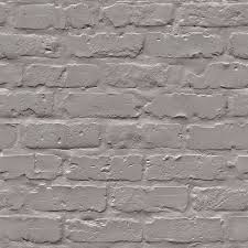 Contemporary Wallpaper by Contemporary Faux Brick Grey Industrial Chic Wallpaper Walls