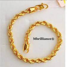 gold bracelet rope images Rope bracelet 22k 916 yellow gold by mbrilliance mbrilliance jpg