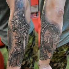 warrior by elvin yong singapore forearm tattoos ideas
