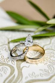 Teardrop Wedding Ring by A Rustic Camp Themed Outdoor Wedding Inside Weddings