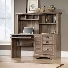 Walmart Com Computer Desk by Sauder Harbor View Computer Desk With Hutch Salt Oak Furniture