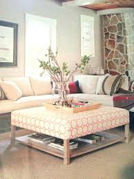Upholstering An Ottoman Upholstered Ottoman With Tray Jessicastable Co