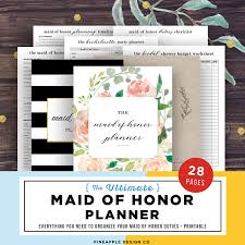 of honor planner of honor planner wedding planner printable of