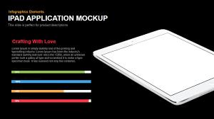 ipad application mockup powerpoint keynote template slidebazaar