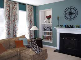 The Bold Teal And Its Muted Counterpart Are Perfect For Jos Room - Teal living room decorating ideas