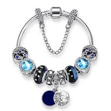 murano glass beads bracelet silver images New arrivals bijoux moon murano glass bead bracelet bangles for jpg