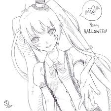 Halloween Pumpkin Drawings Anime Halloween Drawings U2013 Festival Collections