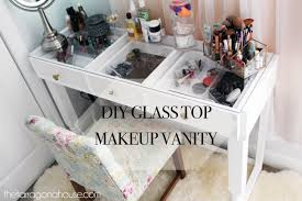 glass top vanity table ana white diy glass top vanity diy projects