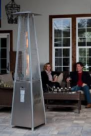 Propane Patio Heaters Reviews by Stainless Steel Pyramid Flame Heater Walmart Com