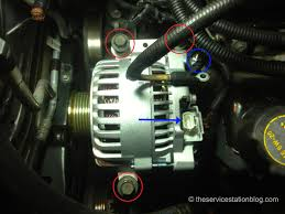 in the shop windstar belt tensioner and alternator the