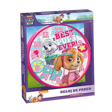paw patrol best pups ever wall clock 8435333866580 character