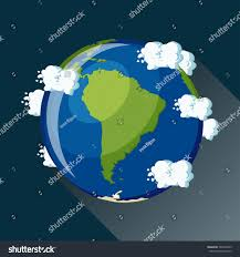 Earth Globe Map World by South America Map On Planet Earth Stock Vector 524000335