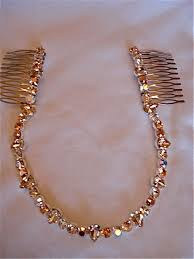 gold headband gold bridal brow band headband the