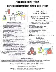 colorado county household hazardous waste collection