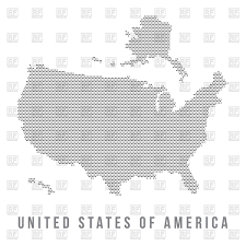 States Of Usa Map by Outline Of Map Of Usa With Alaska And Flags Of States Vector Image