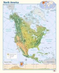 Maps North America by North America Physical Wall Map Maps Com