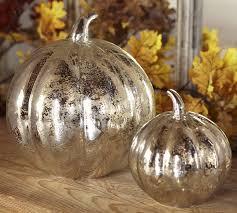 antique mercury glass pumpkins pottery barn