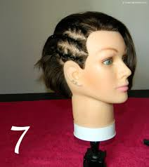 red cornrow braided hair how to do cornrows on a short angled bob cornrow braiding