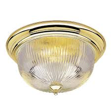 Westinghouse Lighting Fixtures Westinghouse 3 Light Ceiling Fixture Polished Brass Interior Flush